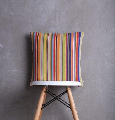 Sunny Stripe Cotton Cushion cover Multi color