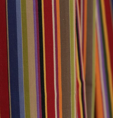 Sunny Stripes Cotton Custom Floor Cushion Multi-color