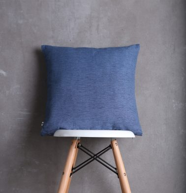 Textura Cotton Cushion Cover Blue 18