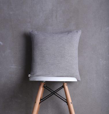 Textura Cotton Cushion Cover Tan Grey