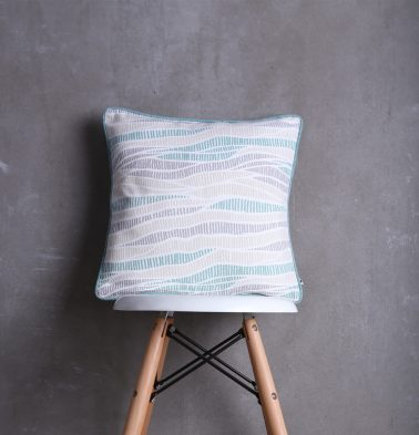 Wave Texture Cotton Cushion cover Sea Blue 16