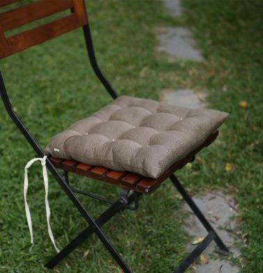 Cotton Chairpad Light Brown