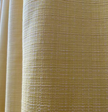 Panama Weave Cotton Custom Blinds Yolk Yellow