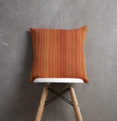 Stripes Cotton Cushion cover Orange 18