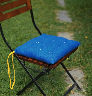 Cotton Chairpad Textura Blue