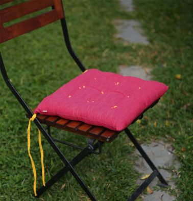 Cotton Chairpad Textura Pink