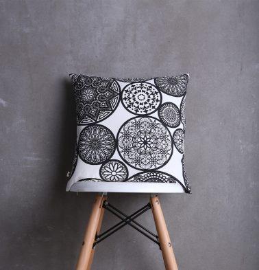 Dreamcatcher Cotton Cushion cover Black 16