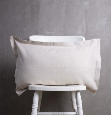 Linen Pillow Cover Silver Grey