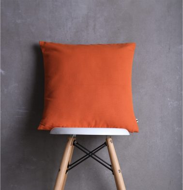 Solid Cotton Cushion cover Flame Orange 18