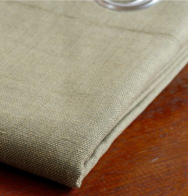 Chambray Cotton Custom Stitched Cloth Sesame Beige