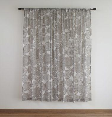 Customizable Sheer Curtain, Cotton - Dreamcatcher -  Brown