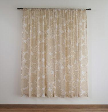 Customizable Sheer Curtain, Cotton - Dreamcatcher - Light Brown