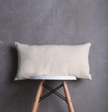Textura Cotton Cushion Cover Fog Beige 12