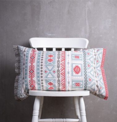 Aztec Cotton Pillow Cover Red