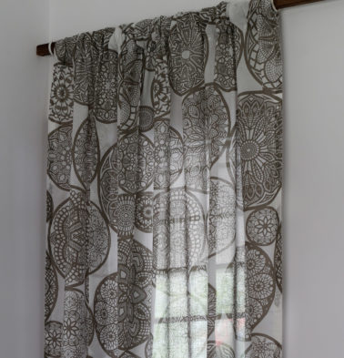 Dreamcatcher Sheer Cotton Curtain Brown