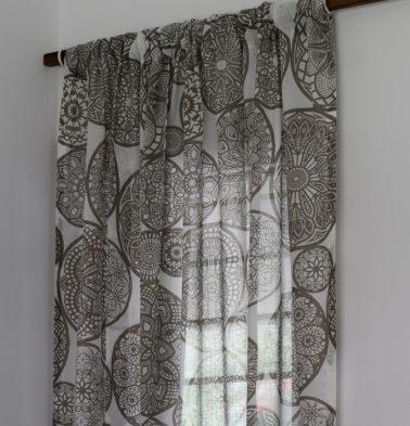 Dreamcatcher Cotton Sheer Custom Curtain  Brown