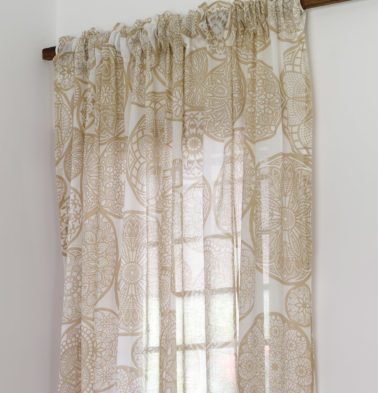 Dreamcatcher Sheer Cotton Curtain Light Brown
