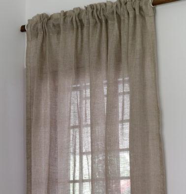 Linen Custom Curtain Oyester Grey