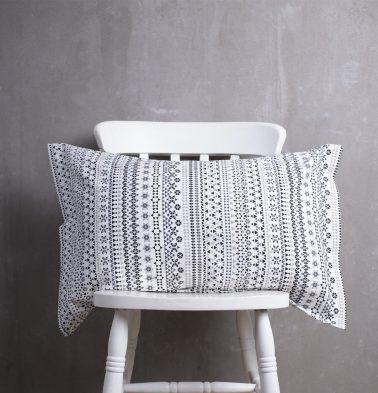 Mosaic Cotton Pillow Cover Black