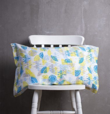 Scattered Semi Cotton Pillow Cover Yellow