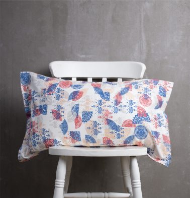 Scattered Semi Cotton Pillow Cover Red