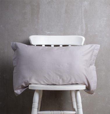 Solid Cotton Pillow Cover - Grey