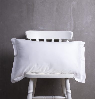 Solid Cotton Pillow Cover White