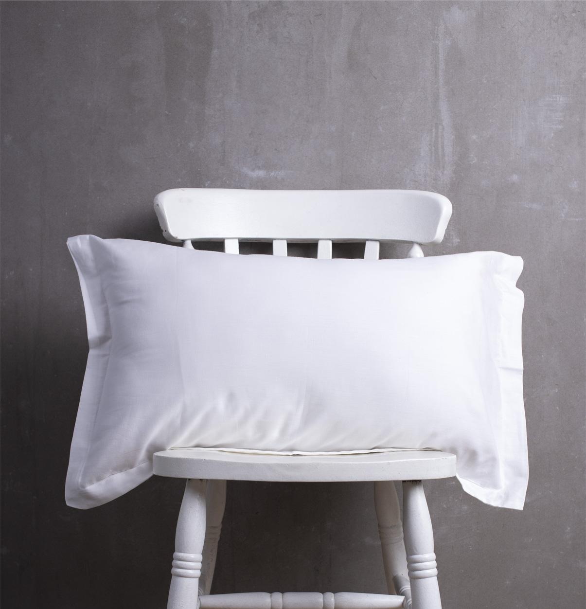 Solid Cotton Pillow Cover White Thoppia