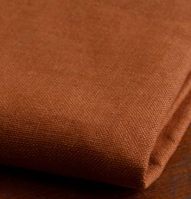 Chambray Cotton Fabric Apricot Orange