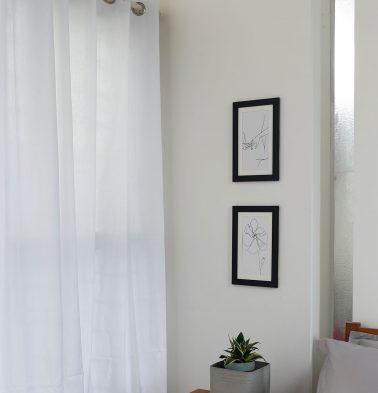 Powder White Cotton Curtain