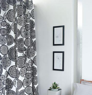 Dreamcatcher Cotton Curtain Black