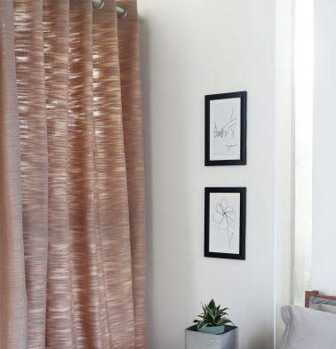 Frappe Slub Cotton Curtain Brown