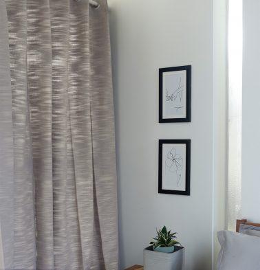 Slub Cotton Curtain Opal Grey