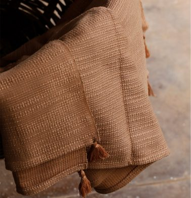 Slub Cotton Throws Brown