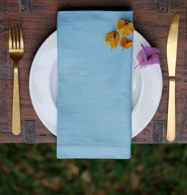 Solid Cotton Table Napkins Nile Blue - Set of 6
