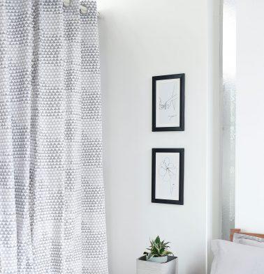 Star Triangle Cotton Curtain Grey