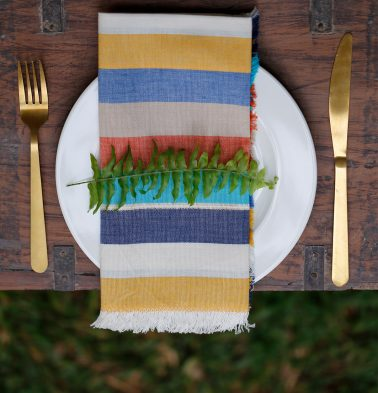 Sunny Stripe Cotton Table Napkins Multi-color - Set of 6