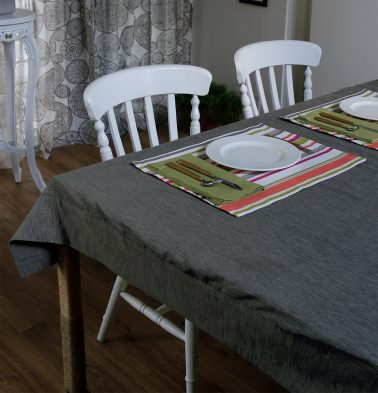 Textura Cotton Table Cloth Periscope Grey 60