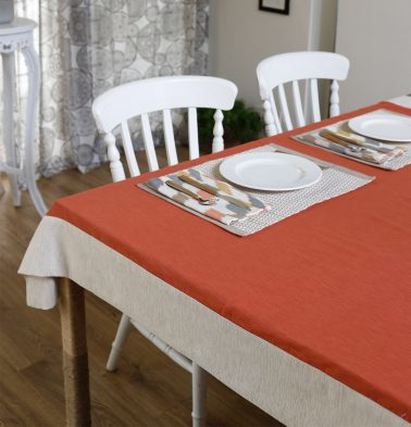 Textura Cotton Table Cloth Spicy Orange 60