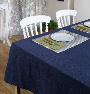 Textura Cotton Table Cloth Twilight Blue 60