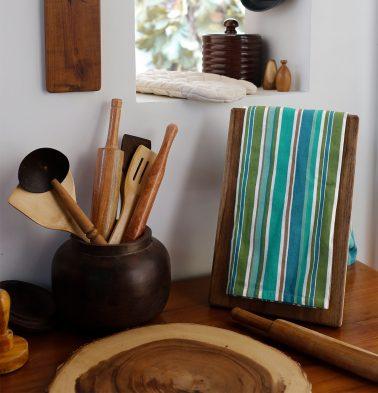 Twill Stripe Cotton Kitchen Towel Multi color