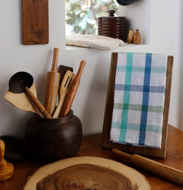 Twill Checks Cotton Kitchen Towel Blue/Green