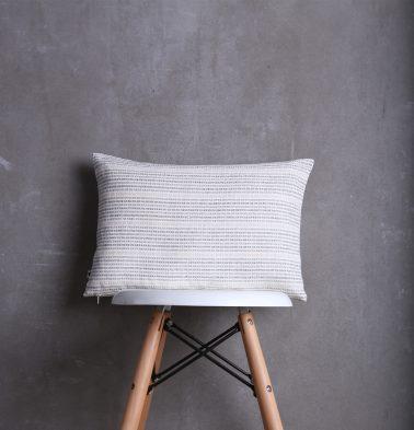 Dobby Stripes Cotton Cushion cover White/Brown 12