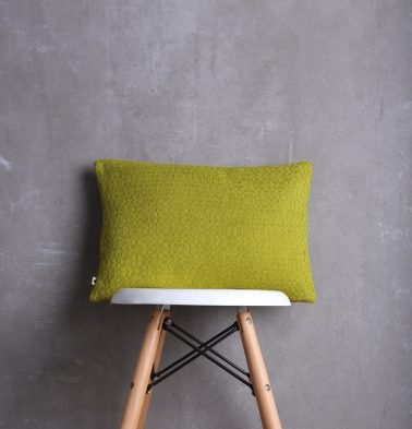 Handwoven Cotton Cushion Cover Apple Green 12