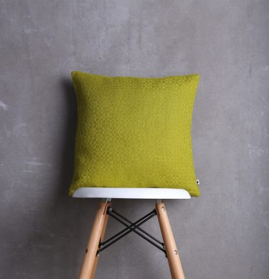 Handwoven Cotton Cushion Cover Apple Green 16