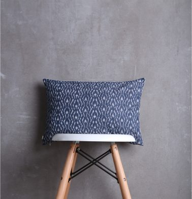 Ikat Handwoven Cotton Cushion Cover Blue 12