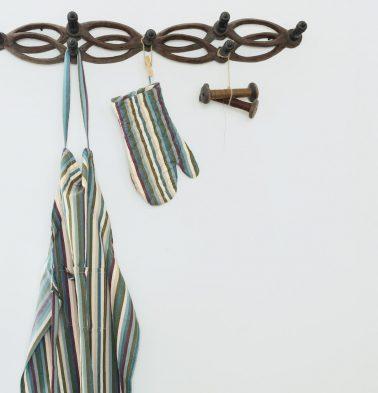 Stripe Twill Cotton Aprons White/Multi color