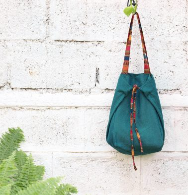 Adaptable Cotton Tote Bag Green / Vintage