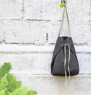 Adaptable Cotton Tote Bag Black / Woodsmoke