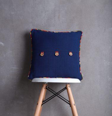 Cotton Cushion cover Indigo/Multistripe 16